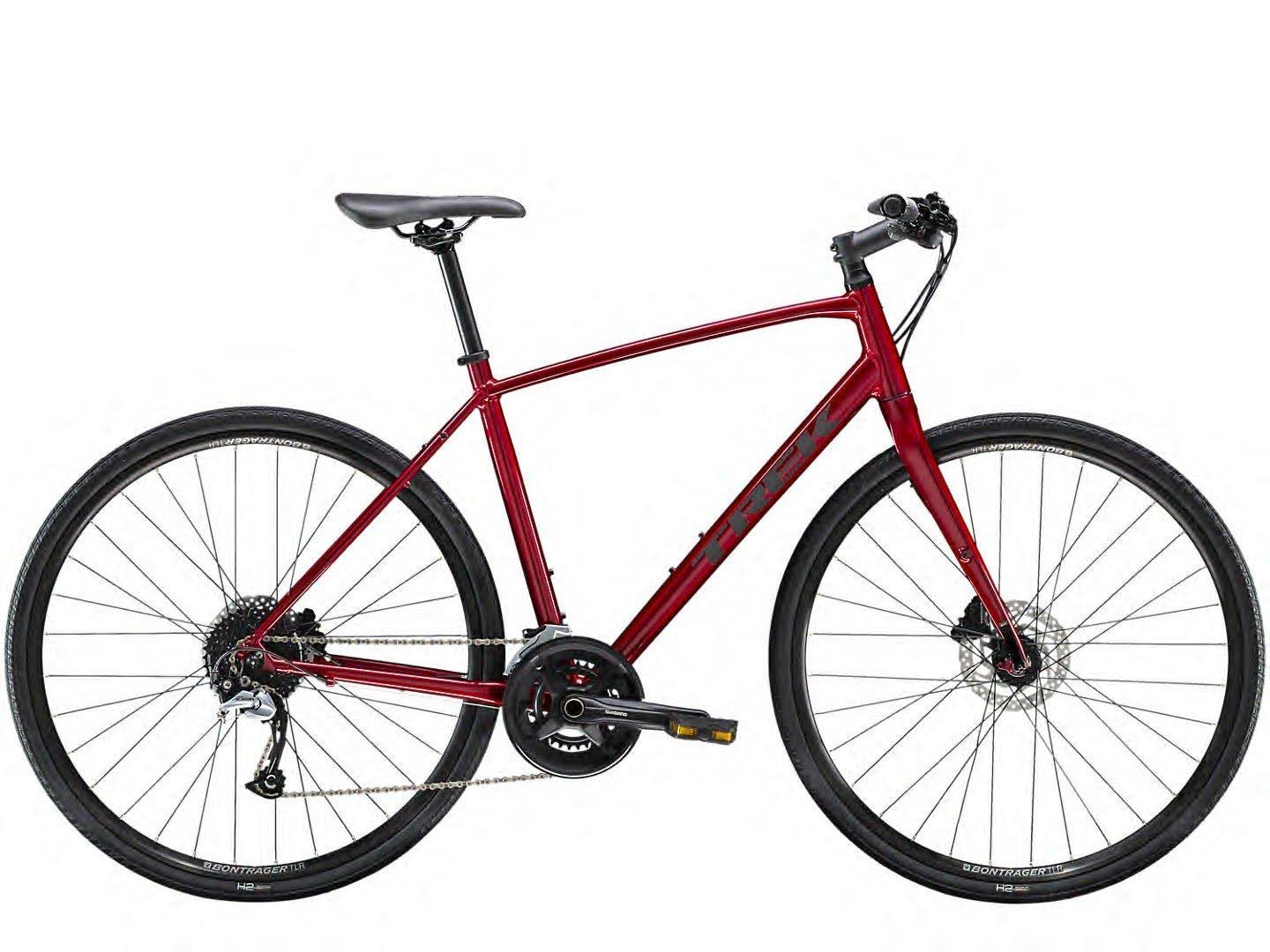 Trek FX 3 Disc 2020 Hybrid Bike - Red, XLarge