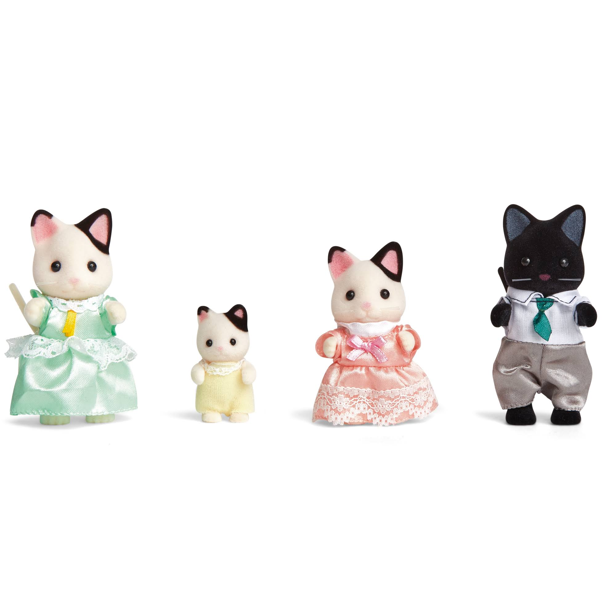 Calico Critters Tuxedo Cat Family Figure Set - 4pk