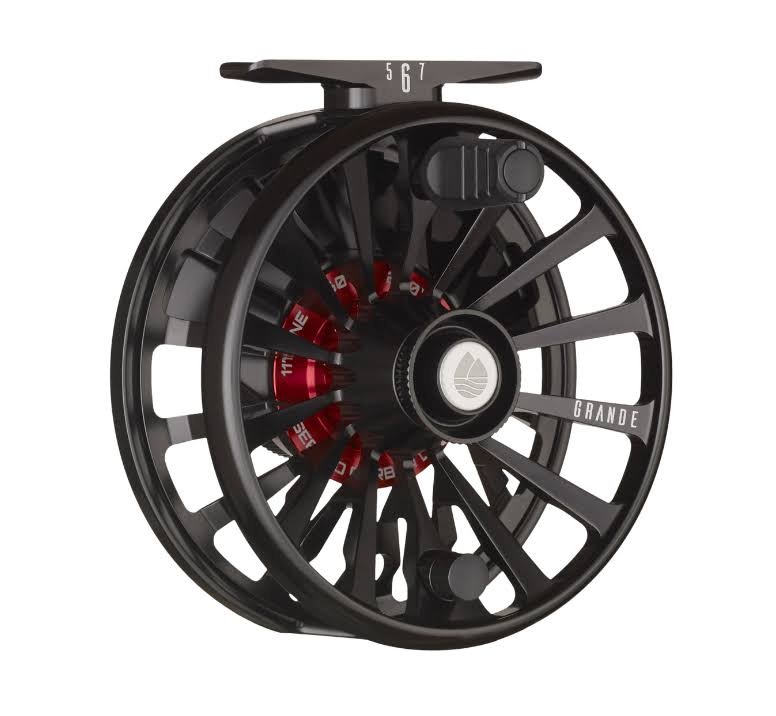 Redington Grande Fly Fishing Reel - Black, 6.7oz
