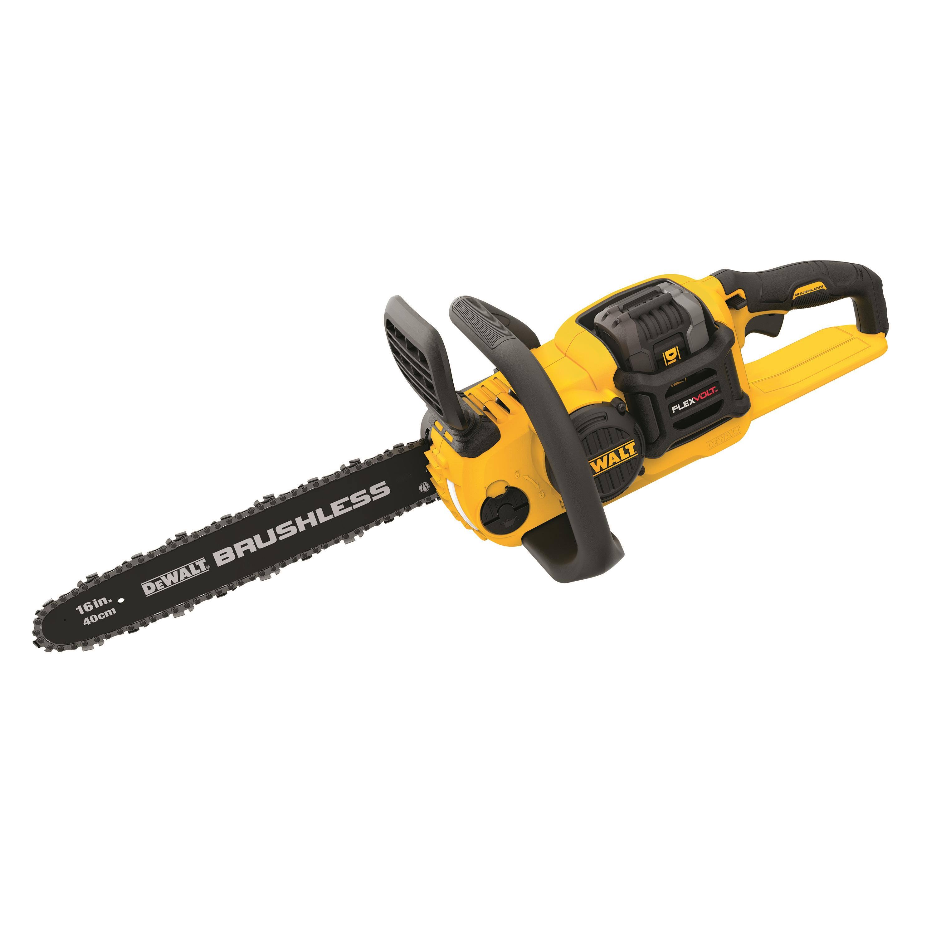 DEWALT Flexvolt Brushless Chainsaw - Yellow, 60v, 16""