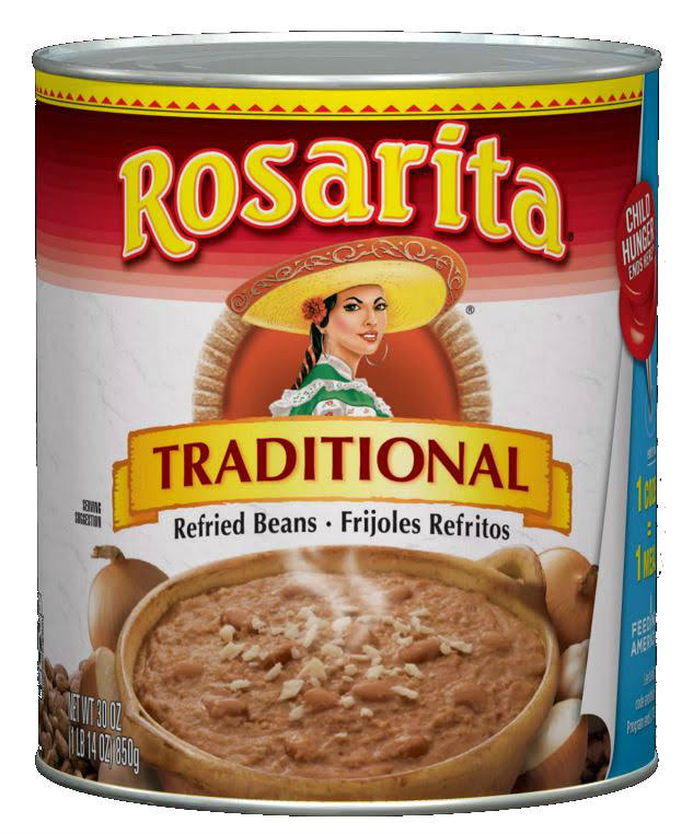 Rosarita Traditional Refried Beans - 30oz