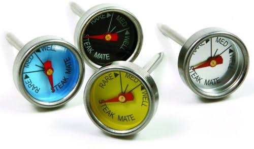 Norpro Mini Steak Stainless Steel Thermometers (Set of 4)