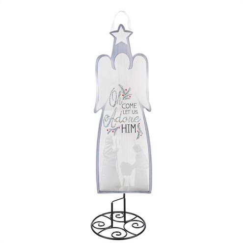 "Evergreen Garden Stake Christmas Angel 36"" Statement Hanger One-Size"