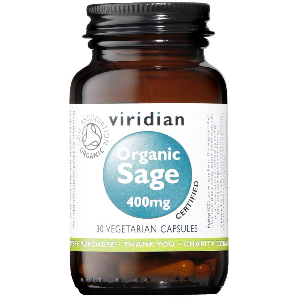 Viridian Organic Sage Supplement - 30 Veg Caps