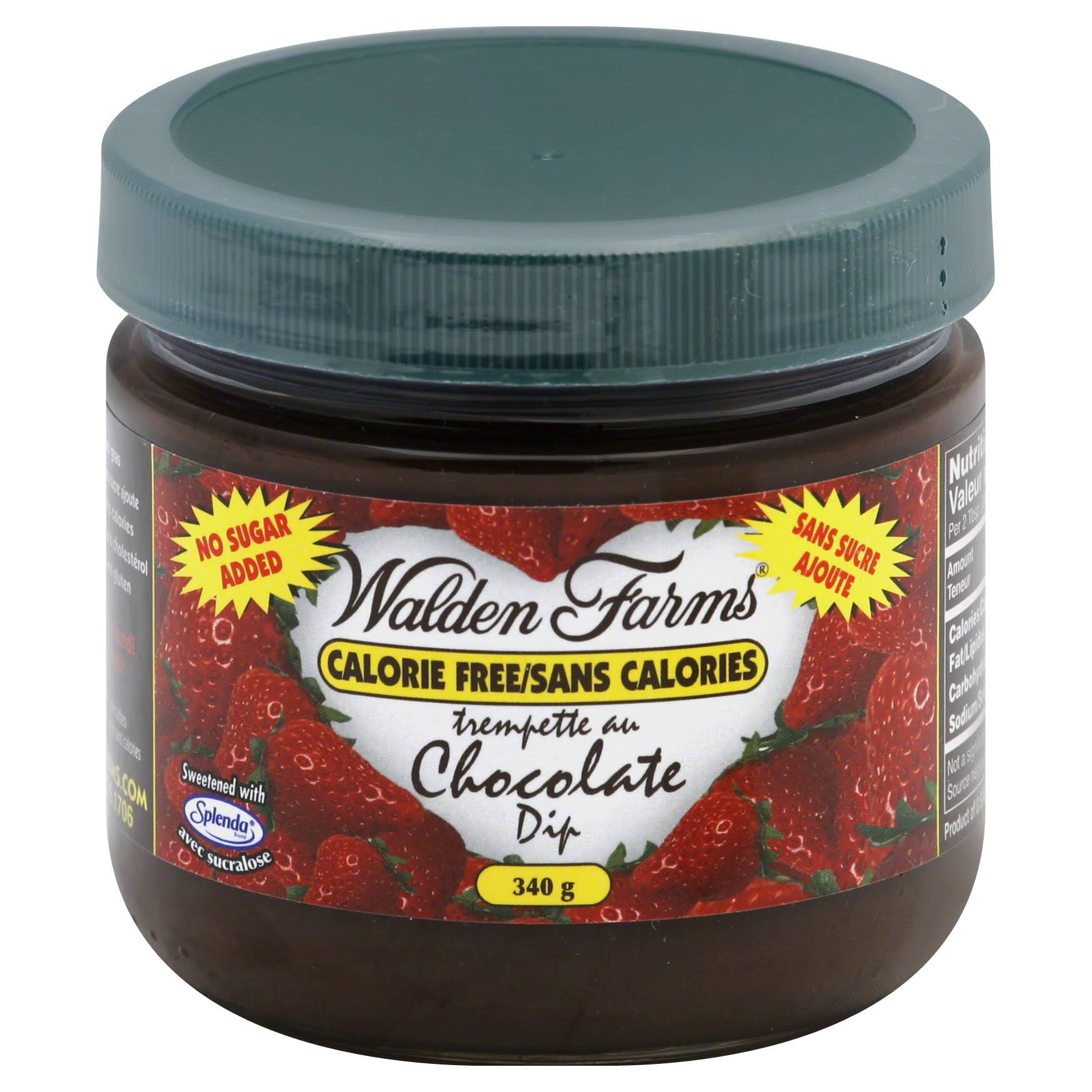 Walden Farms Calorie Free Dessert Dip, Chocolate - 12 oz jar