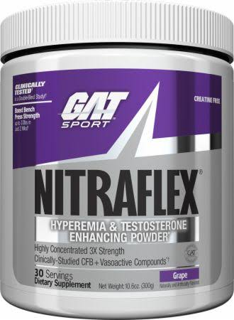 Gat NITRAFLEX Pre-Workout & Testosterone Booster 30 Servings - Grape