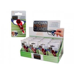 Keychain Eyeglass Cleaner Countertop Display - Case of 24