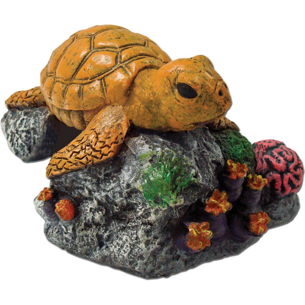 Sea Turtle Coral Reef Aquarium Decoration