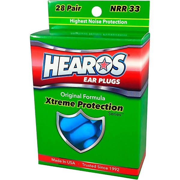Hearos Xtreme Protection Ear Plugs - 28 pairs