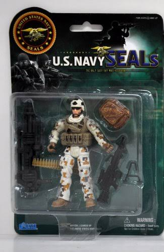 Navy Seals United States Navy Seal Figure with Accessories - Land Gear (Styles May Vary)
