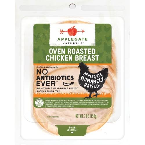 Applegate Chicken, Breast, Oven Roasted