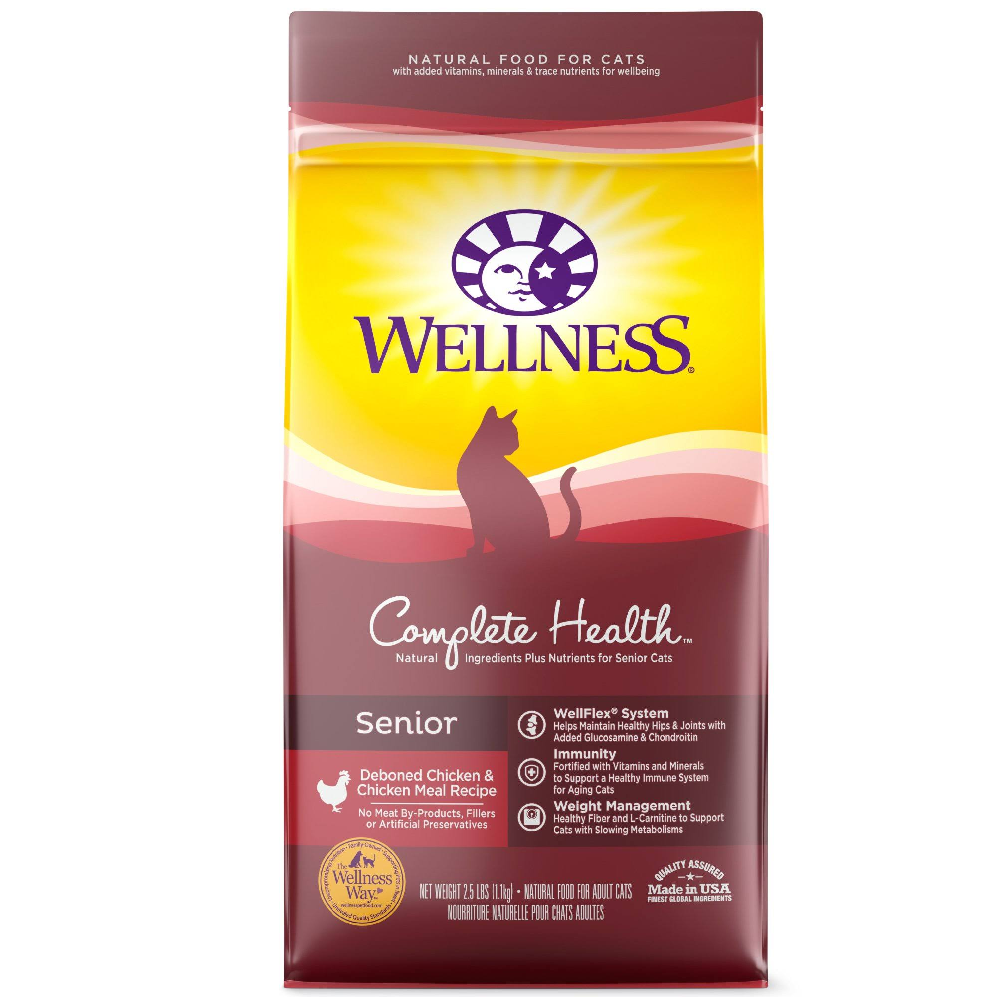 Wellness Complete Health Senior Cat Food - Chicken, 2lbs