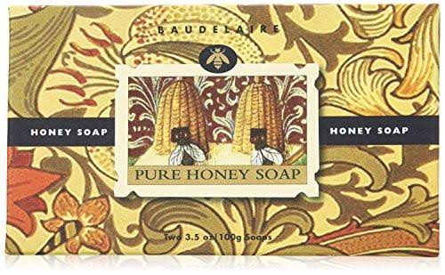 Baudelaire Two Bar Pure Honey Soap, 3.5 Ounce Each