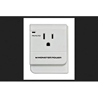 Monster 1OUTTAPWHT Just Power It Up 1 Outlets Surge Tap, White