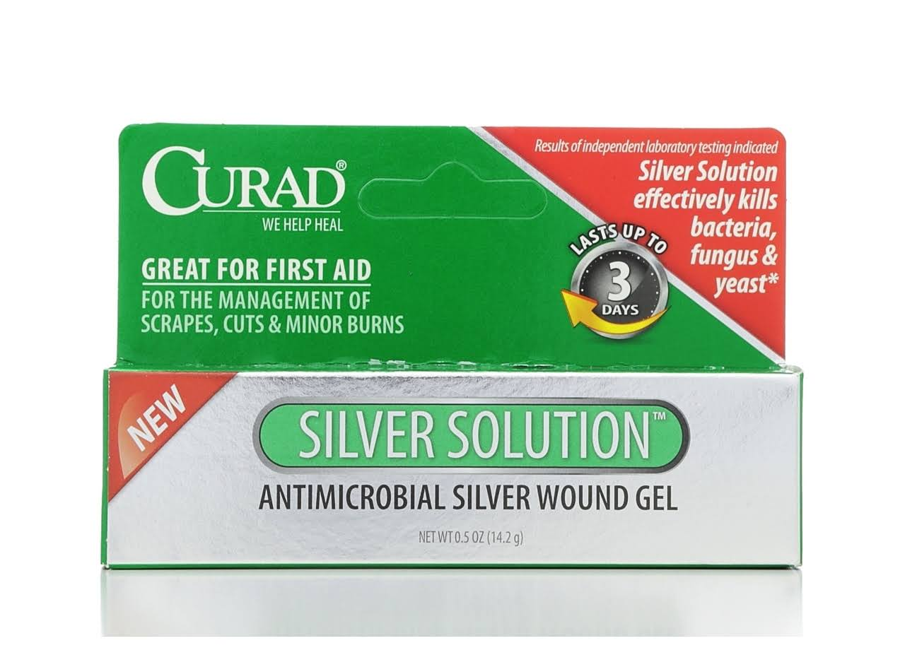 Curad Silver Solution Antimicrobial Gel - 0.5oz