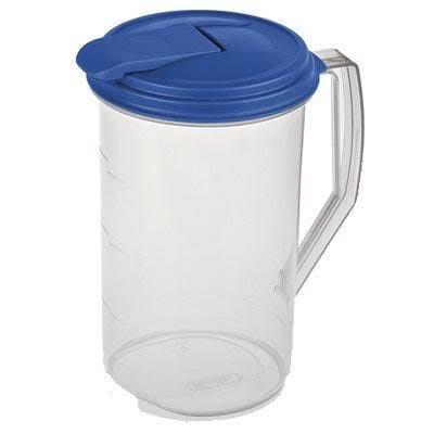 Sterilite 2 Quart Round Plastic Hinged Pitcher, 04860906