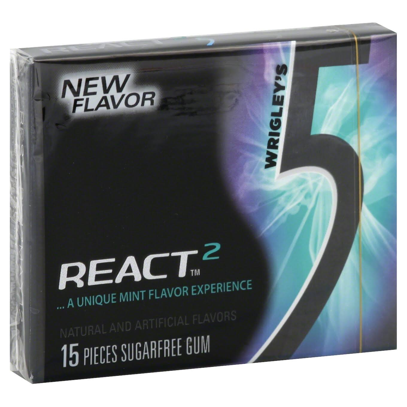 Wrigleys 5 React Mint Sugarfree Gum