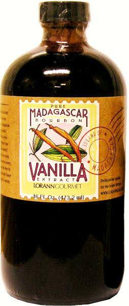Lor Ann Oils All Natural Madagascar Bourbon Bean Vanilla Extract - 16oz