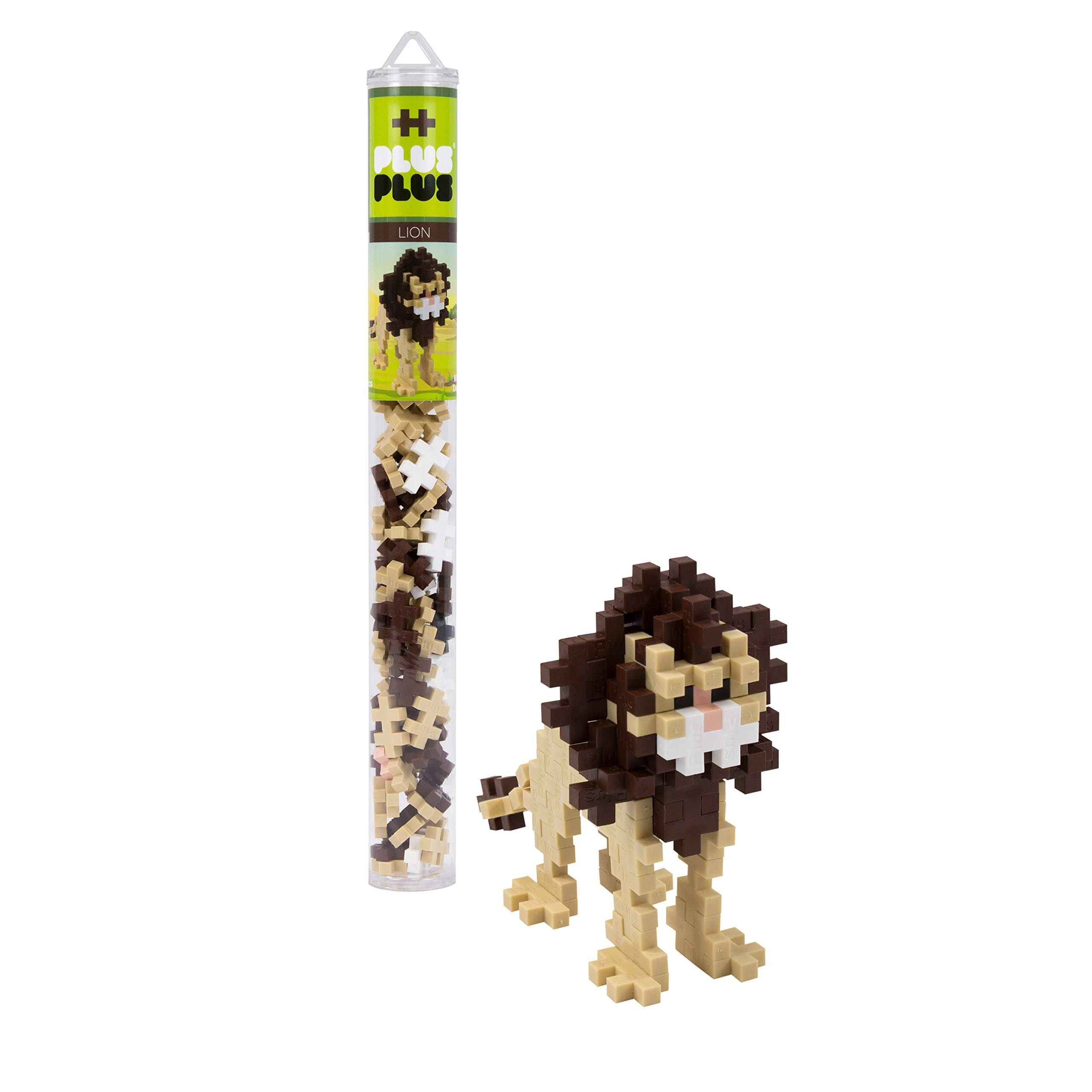 Plus Plus Mini Maker Tube Construction Toy - Lion, 70pc
