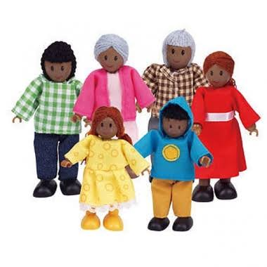 Hape Happy Family Doll Set - African American