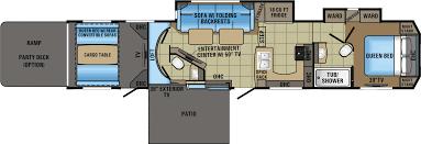 5th Wheel Toy Hauler Floor Plans by 2018 Jayco Seismic 4113 Model