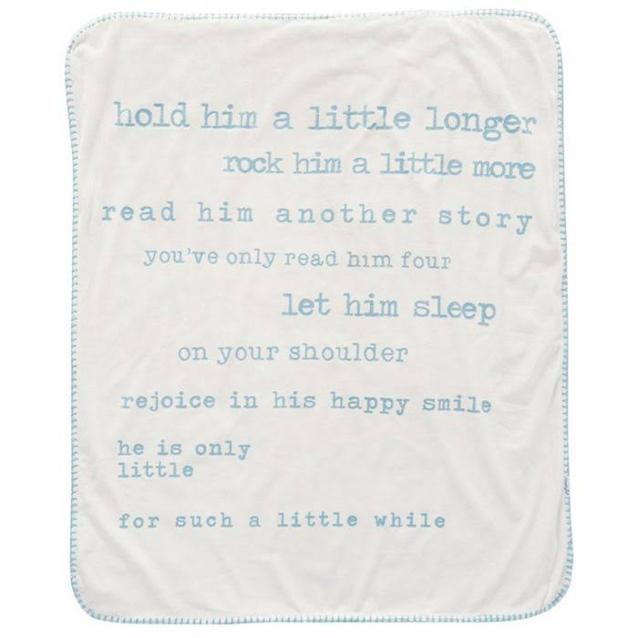 Mud Pie Little Boy Printed Sherpa Blanket, Blue