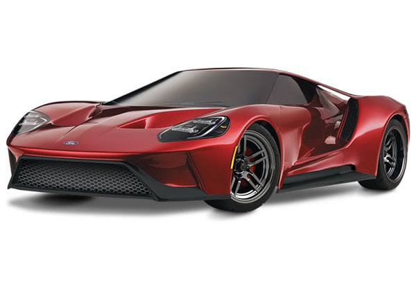 Traxxas Ford GT Awd Supercar RTR Car Model Kit - Red, 1:10 Scale
