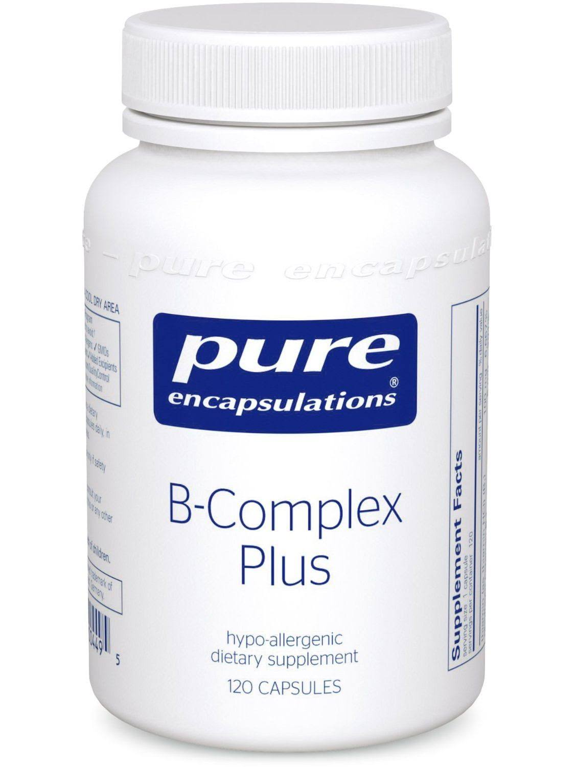 Pure Encapsulations B-complex Plus Supplement - 120 Vegetable Capsules