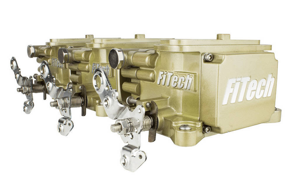 FiTech Fuel Injection 39610 Go EFI 3x2 Tri Power EFI System Classic Gold