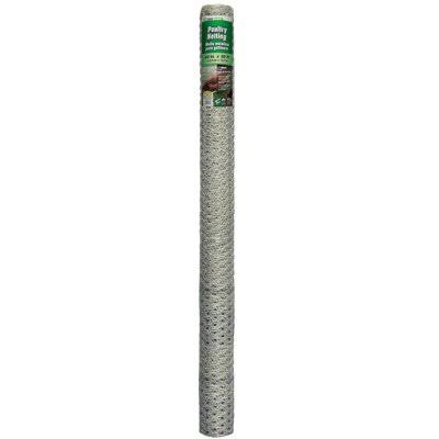 Midwest Air Galvanized Poultry Netting - 60 x 50 ft
