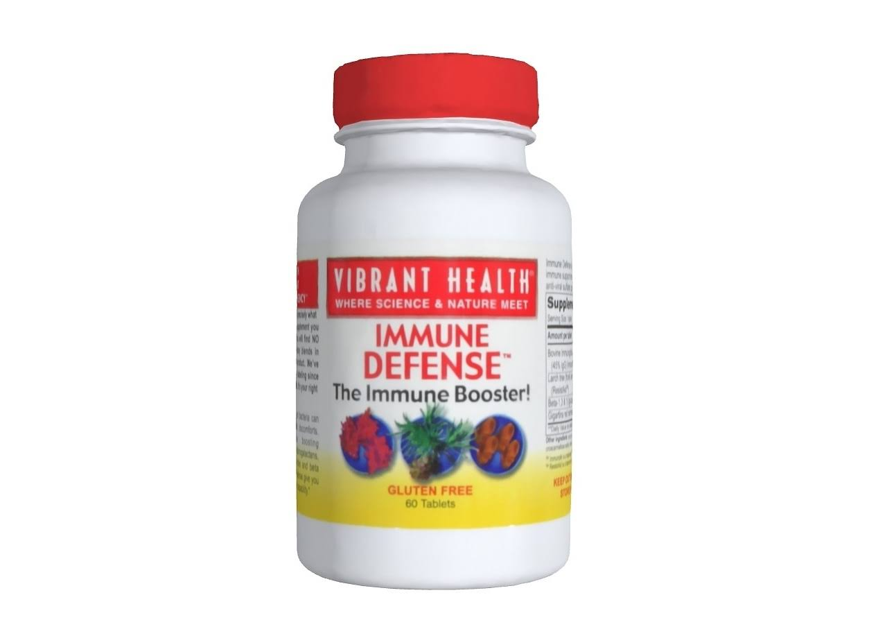 Vibrant Health Immune Defense Dietary Supplement - 60 Tablets