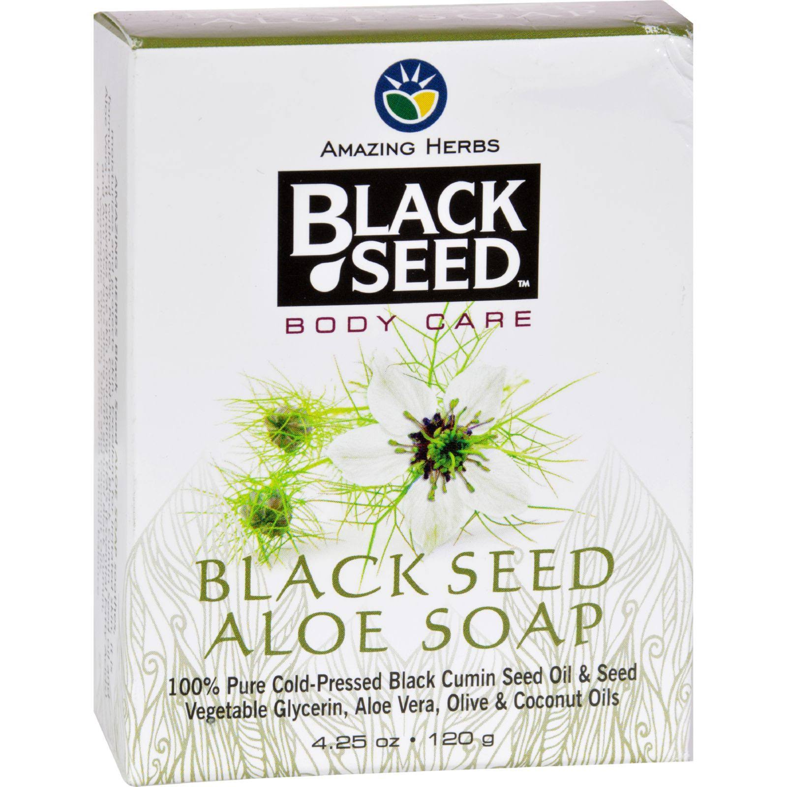 Amazing Herb Black Seed Aloe Soap - 120g