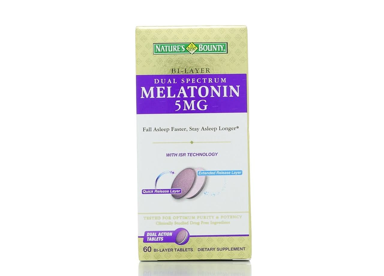 Nature's Bounty Dual Spectrum Melatonin - 5mg, 60ct