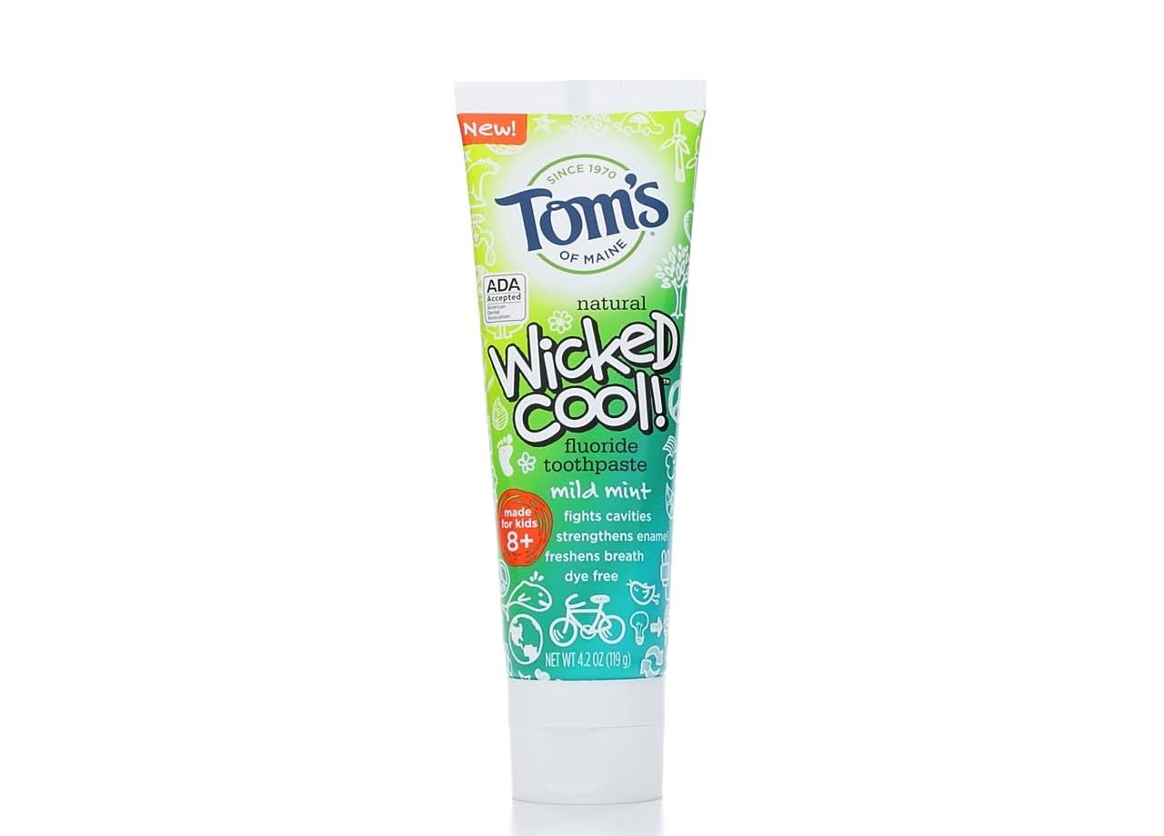 Tom's of Maine Natural Wicked Cool Flouride Toothpaste - Mild Mint, 4.2oz