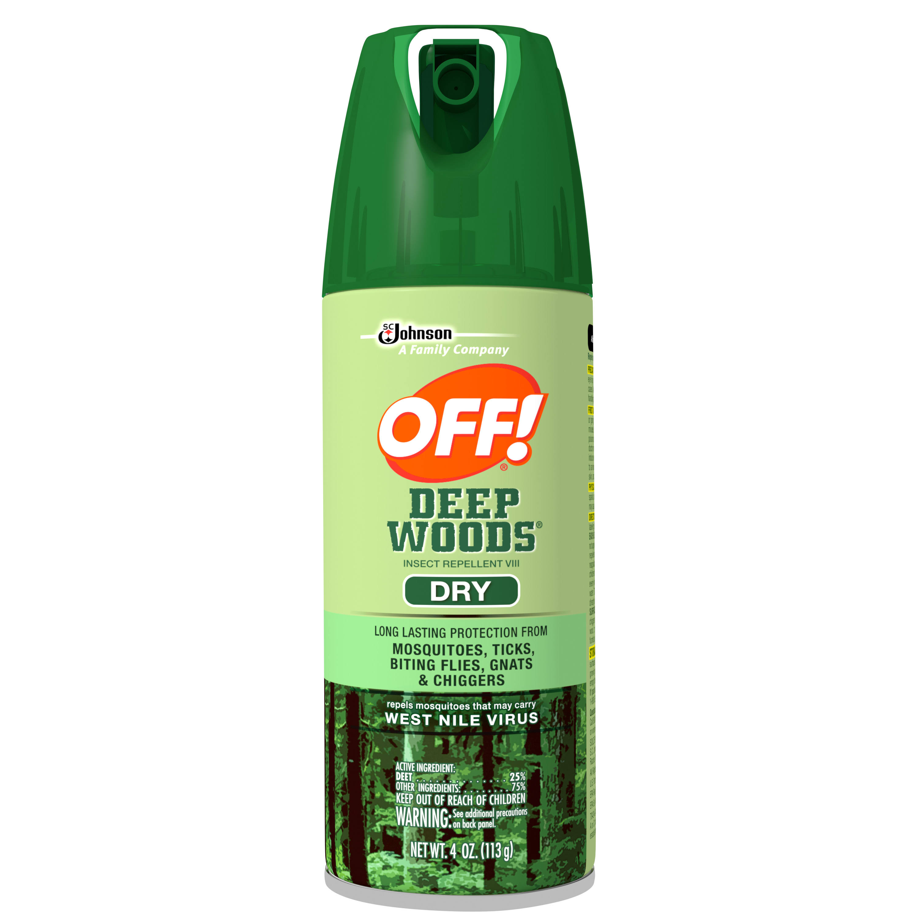 SC Johnson Off Deep Woods Dry Insect Repellent - 4oz