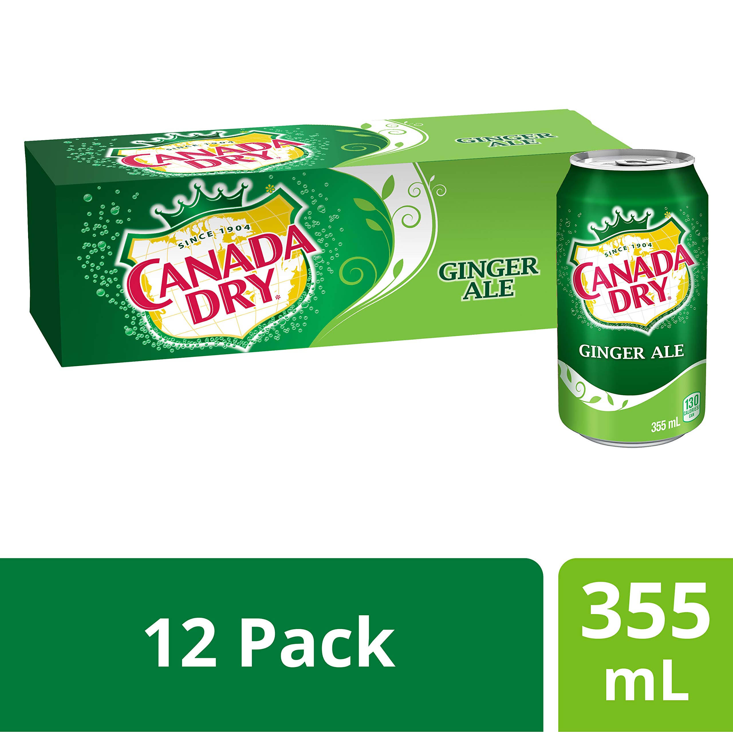 Canada Dry Ginger Ale - 355ml, 12ct