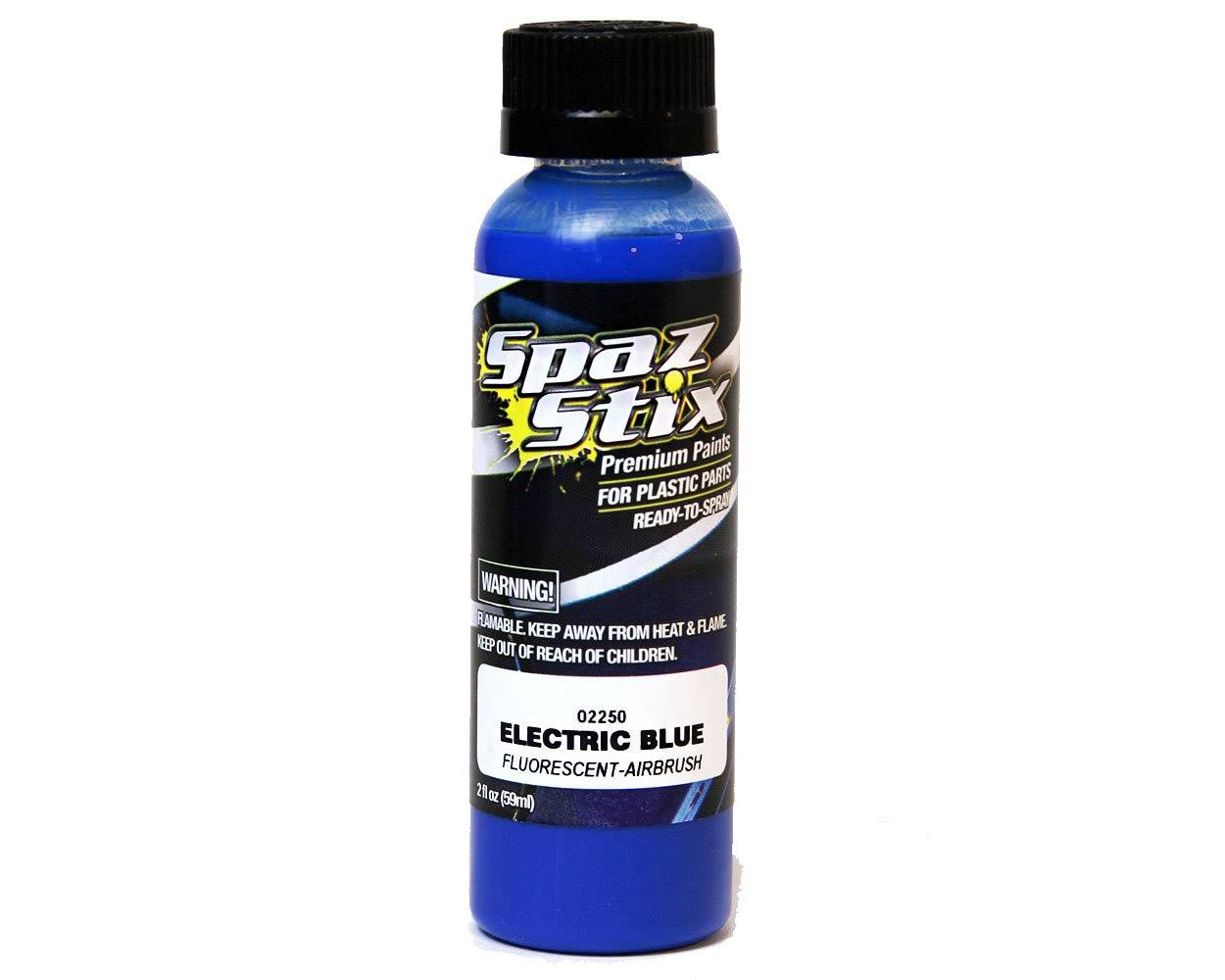 Spaz Stix SZX02250 Electric Blue Fluorescent Airbrush Paint - 2 oz