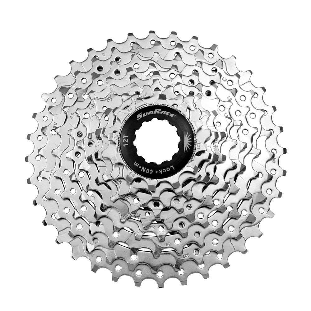 Sunrace CSM98 MTB Bicycle Cassette - 9 Speed, 11-36, Silver