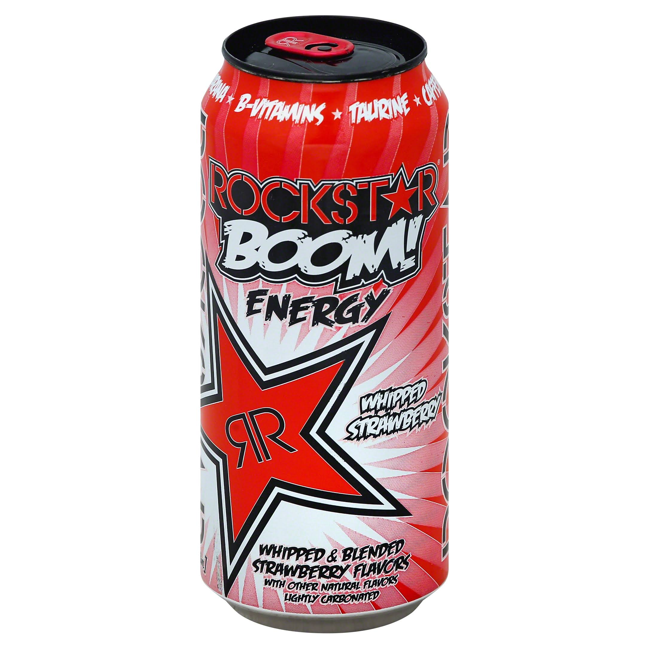 Rockstar Boom Energy Drink - Whipped Strawberry