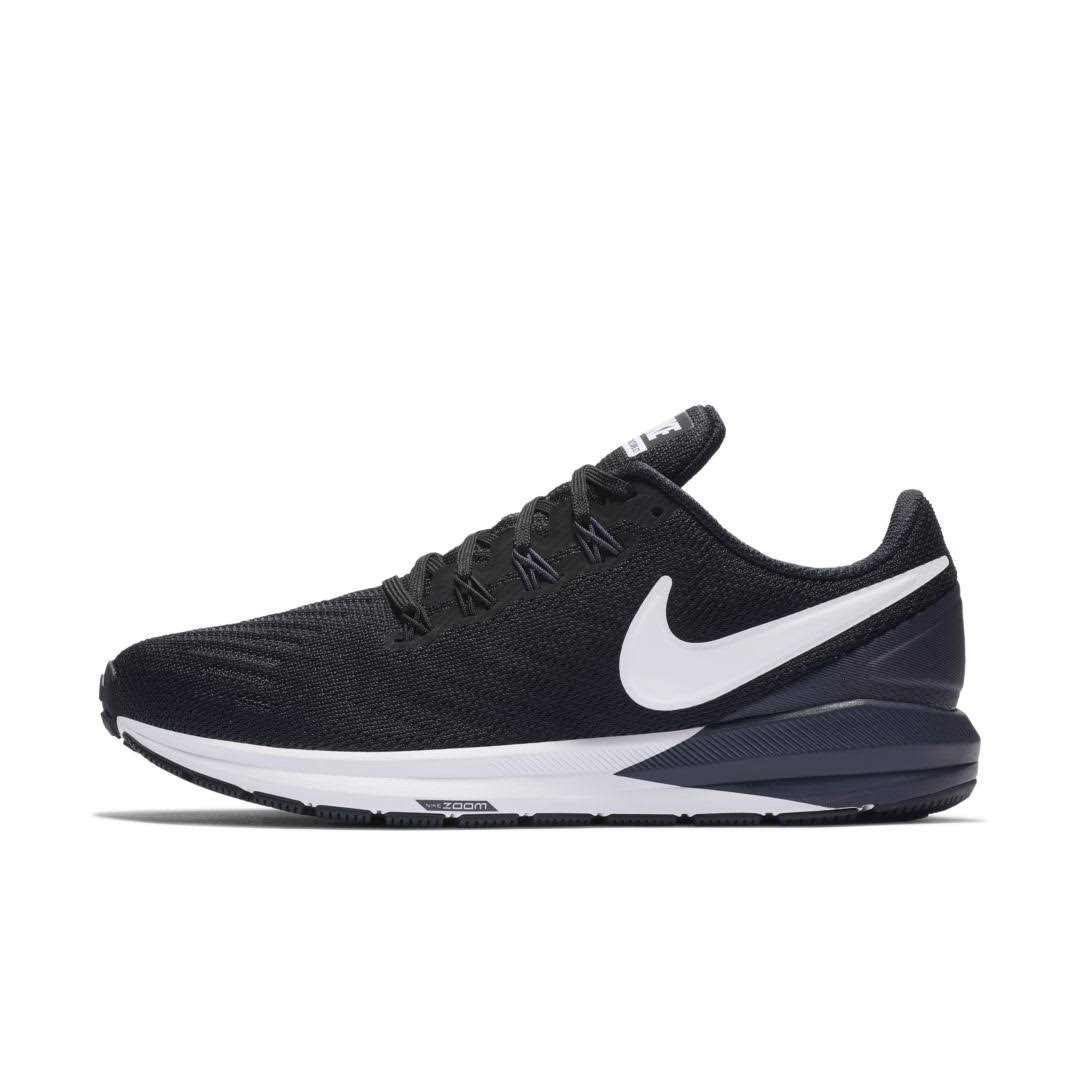 Nike Air Zoom Structure 22 Running Shoes - Black/White