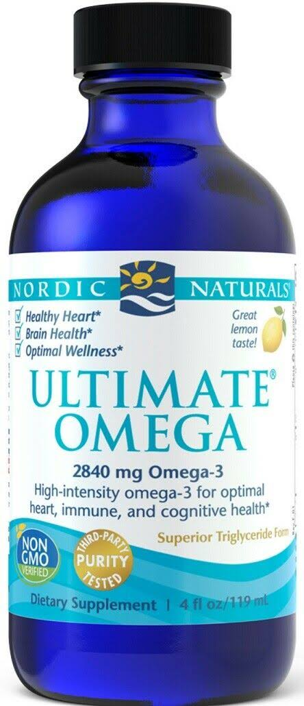 Nordic Naturals Ultimate Omega - Lemon Flavor, 4oz