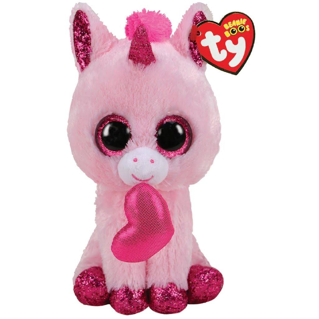Ty Beanie Boos - Darling The Valentines Unicorn (Regular Size - 6 in)