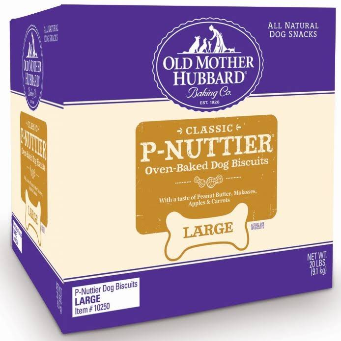 Old Mother Hubbard P Nuttier Mini All Natural Dog Treats - 20lbs