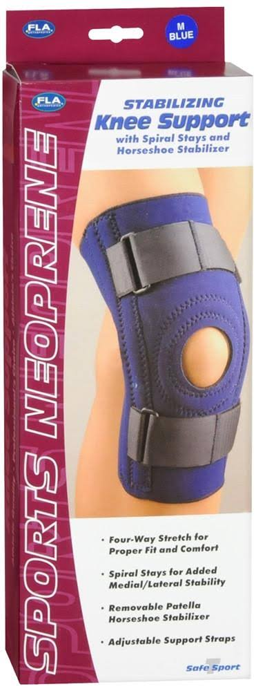 Fla Safe T Sport Stabilizing Knee Support - Navy, Medium