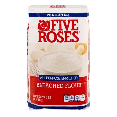 Five Roses All Purpose Flour - Pre-sifted, Bleached, 5.5lb