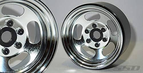 SSD RC Slot 1.9†Steel Beadlock Wheels (Chrome) - SSD00276