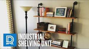 build a diy industrial pipe shelving unit youtube