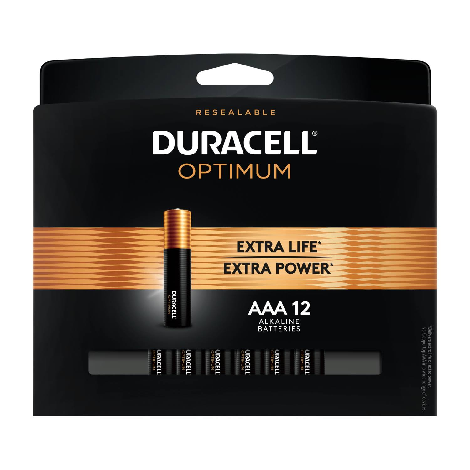 Duracell Optimum AAA Alkaline Battery - 12 Pack