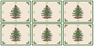 Spode Christmas Tree by Pimpernel Christmas Tree Placemats Set Of 6 Pimpernel Uk