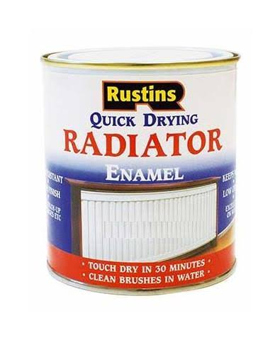 Rustins Quick Drying Radiator Enamel - White Satin, 250ml